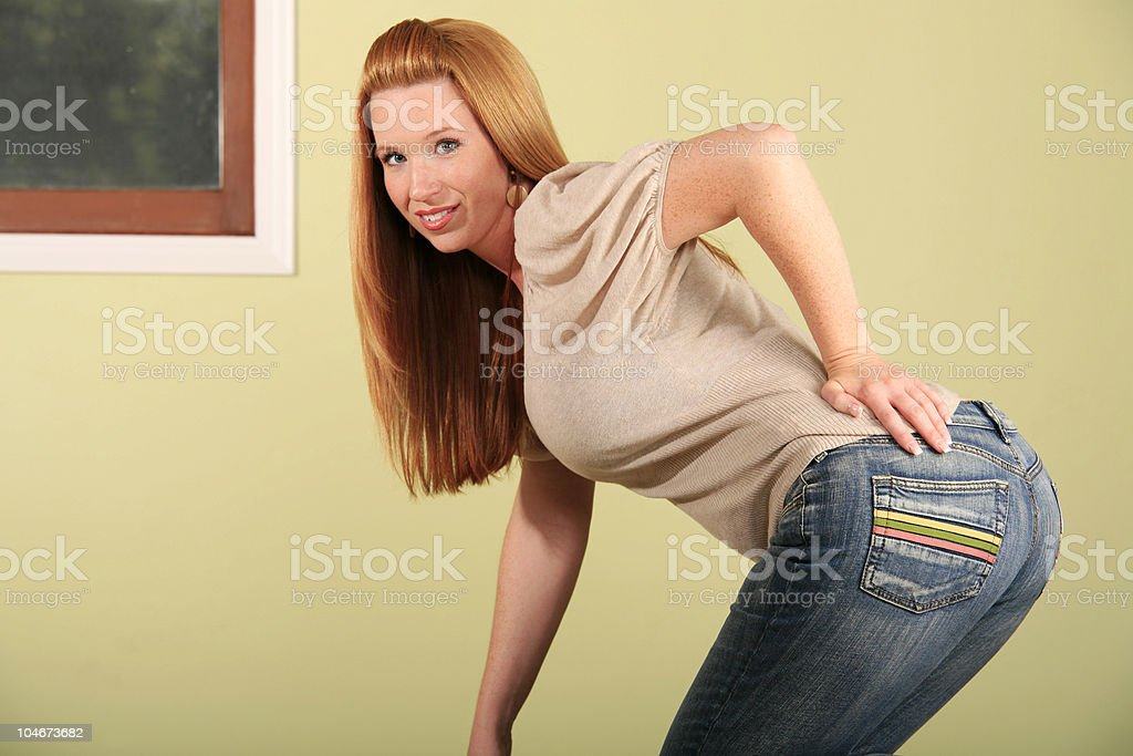 From behind stock photo