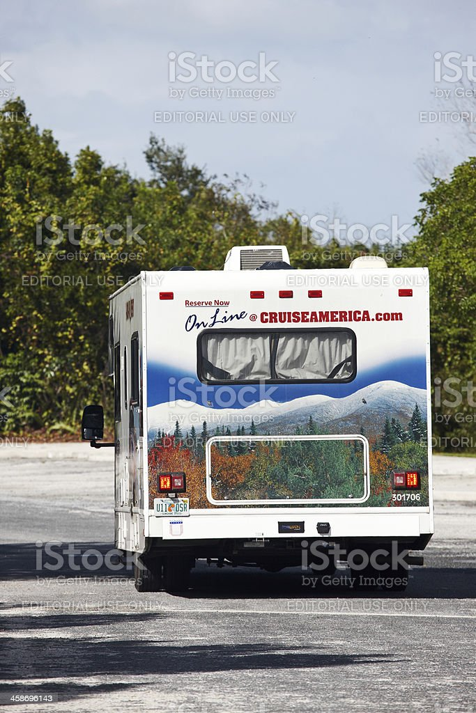 RV from Cruise America royalty-free stock photo