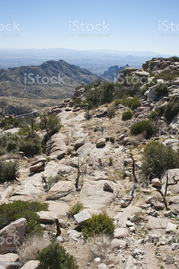 From Desert Floor to Mountain Tops stock photo