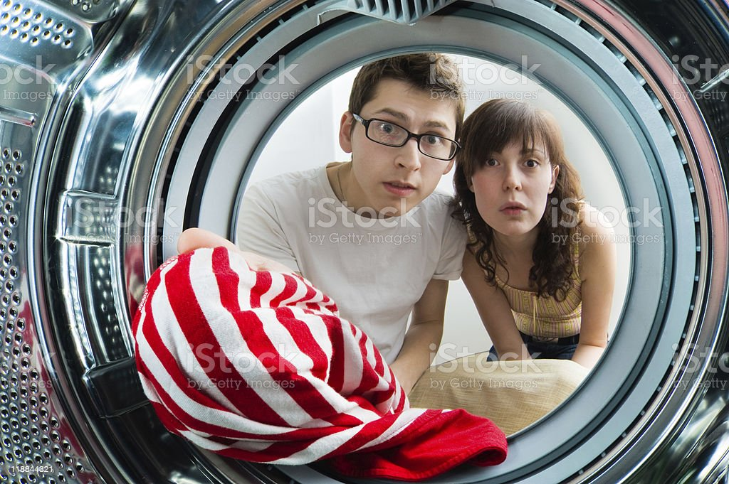 From inside the washing machine view. royalty-free stock photo