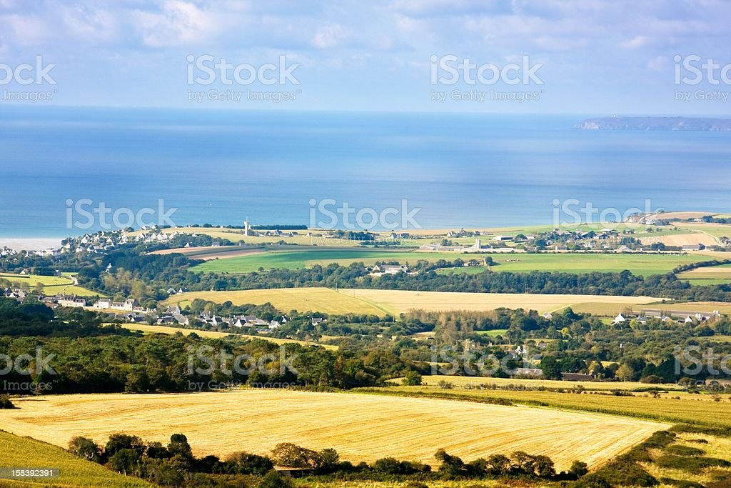 From land to sea stock photo