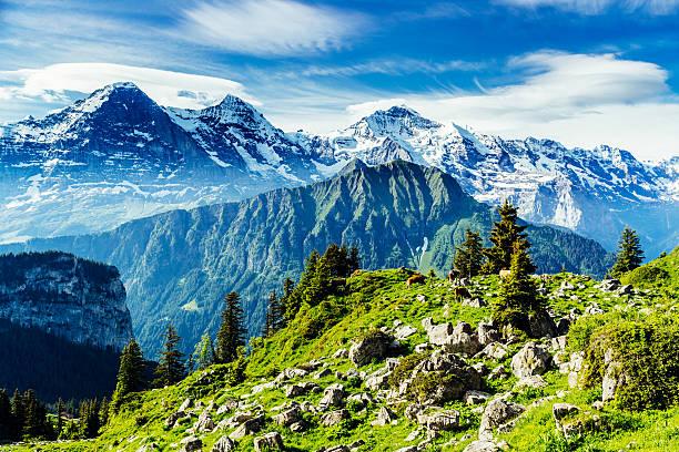 From left, Eiger, Monch, Jungfrau,landscape – Foto