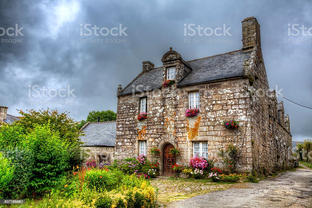From Locronan, Brittany stock photo