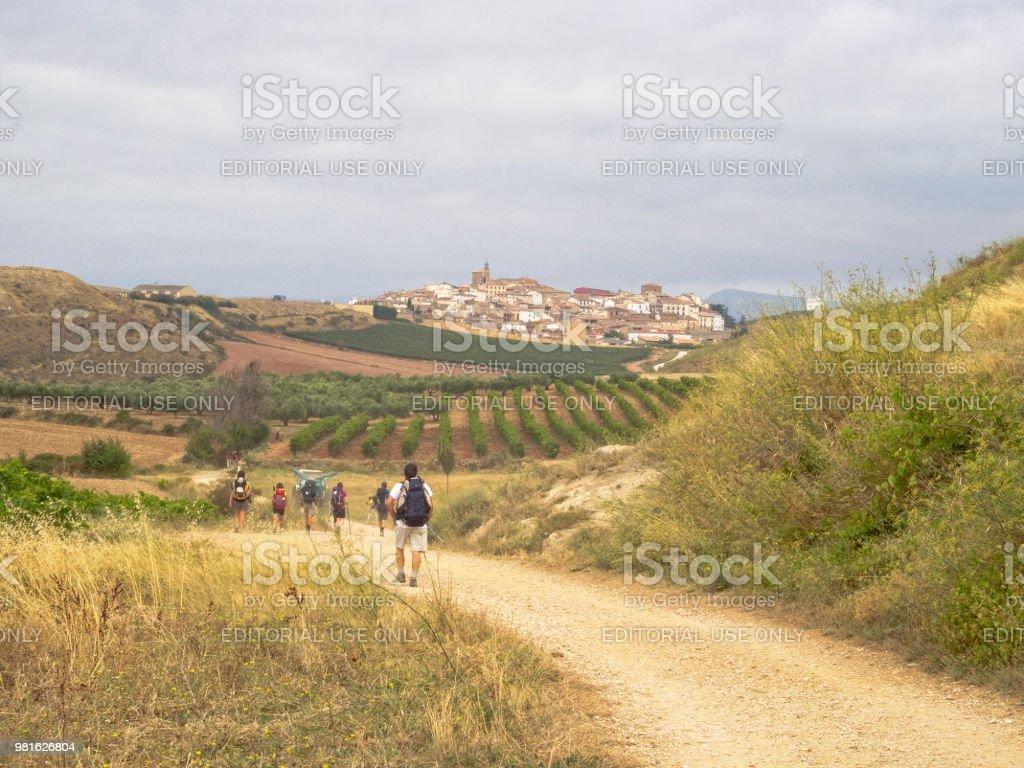 From Maneru to Cirauqui stock photo