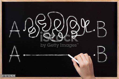 istock From point A to B on blackboard 519732828