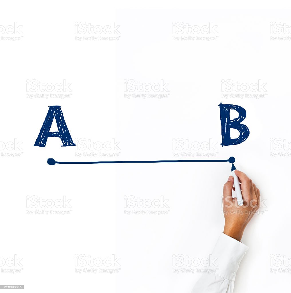From point A to B (Click for more) stock photo