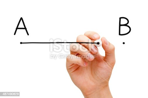 istock From point A to point B 487490829