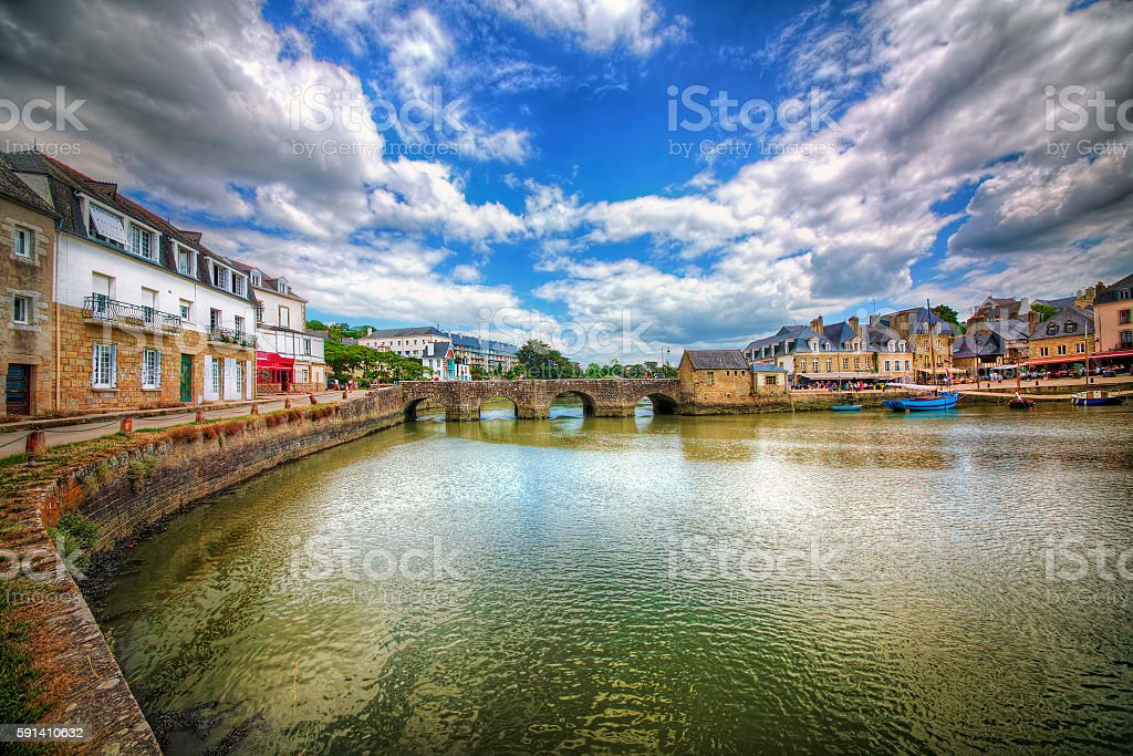 From Port de Saint-Goustan, Auray, Brittany - foto de stock
