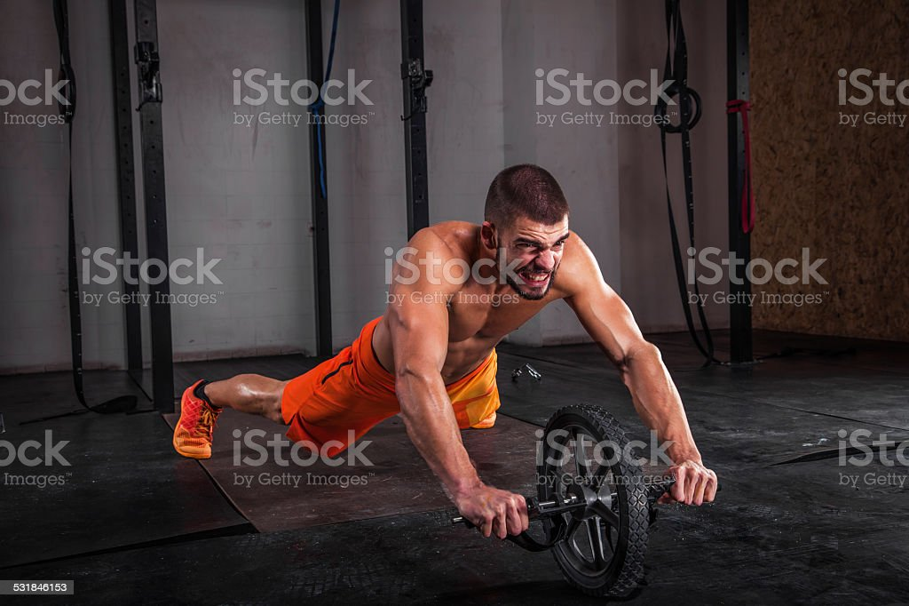 Ab Roller Workout stock photo