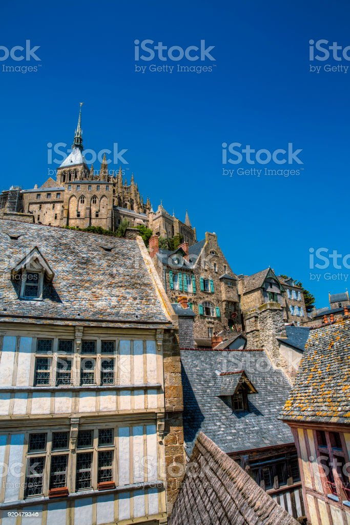 From Saint Michael's Mount, Normandy, France stock photo
