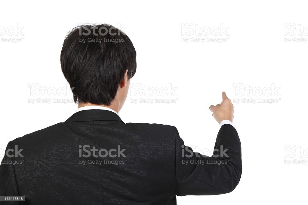 From the angle of view by pointing-XXXL stock photo