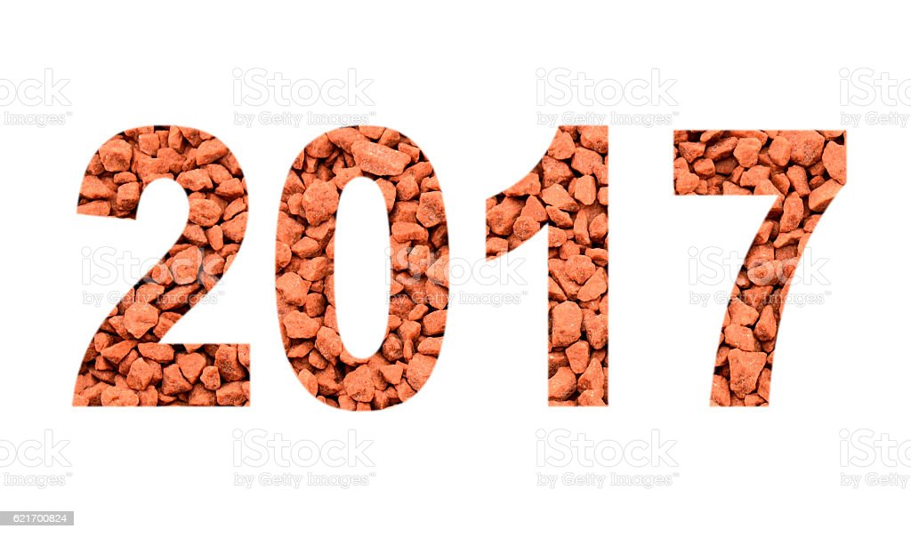 2017 from the mineral fertilizers, isolated on white stock photo