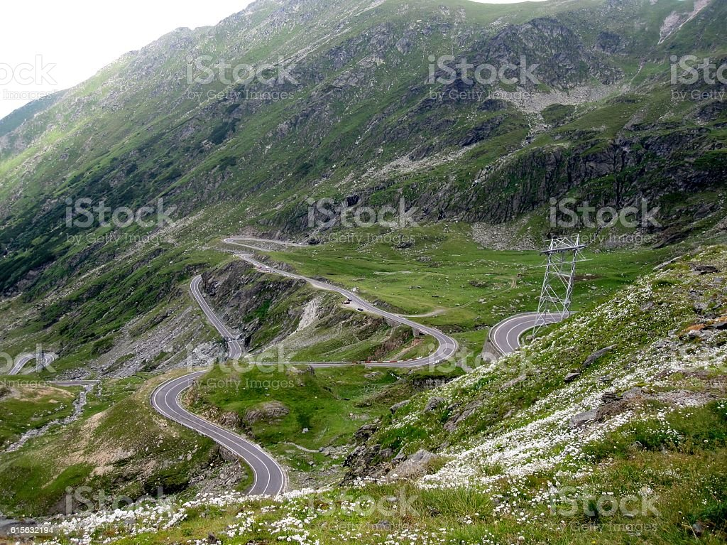 From the top of the Transfagarasan road, Romania stock photo