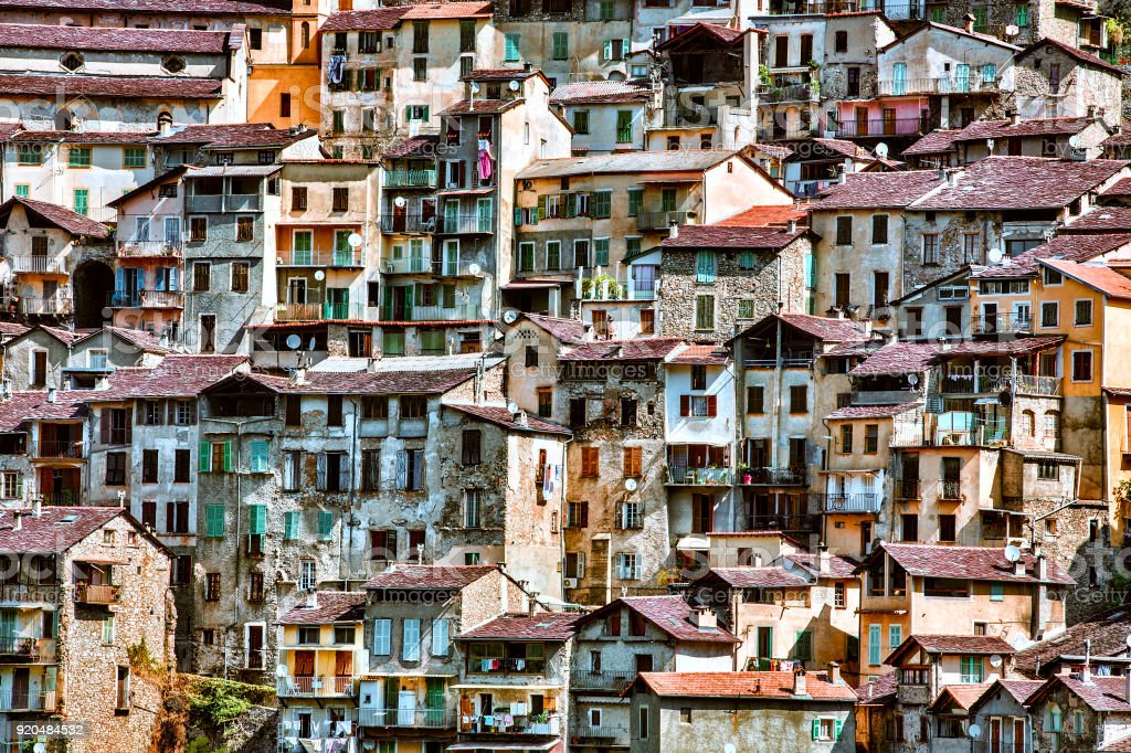From the Village of Saorge, Alpes-Maritimes, Provence, France stock photo