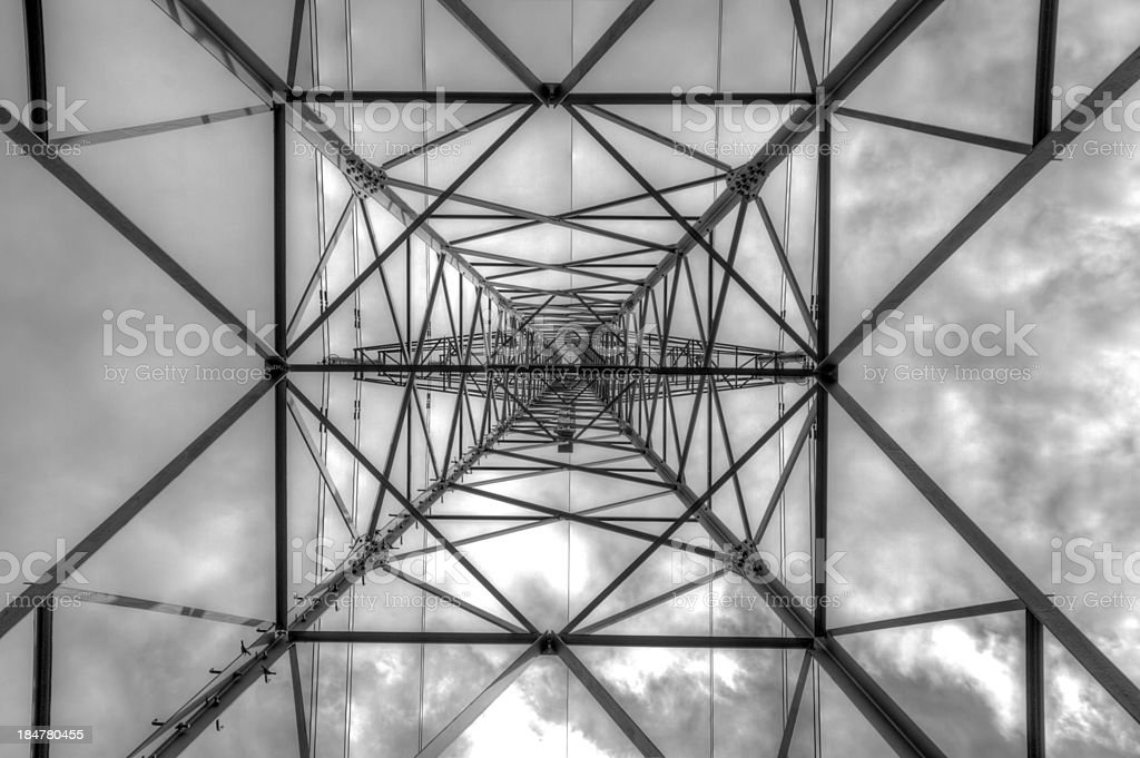 From under a Powerline royalty-free stock photo