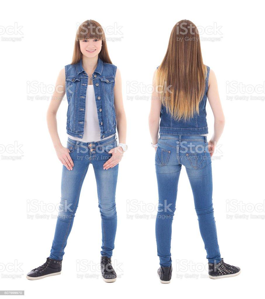 Девушка фото спереди и сзади