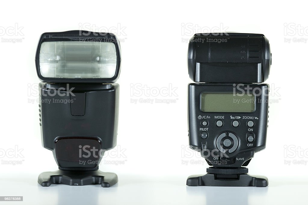 front and back view of flash royalty-free stock photo