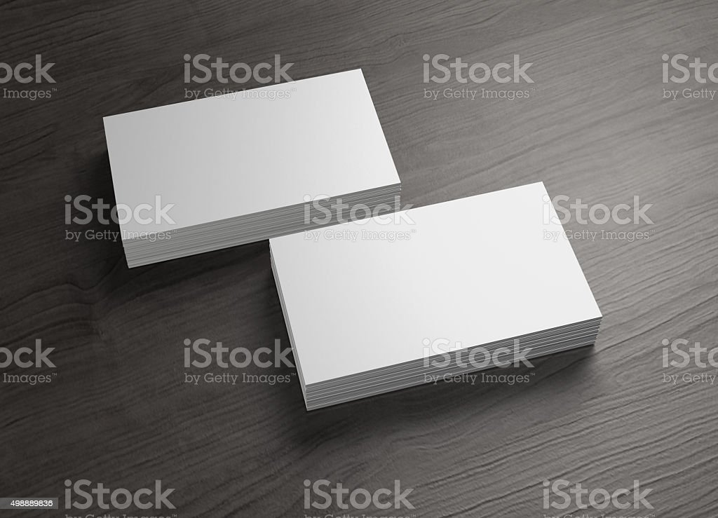 front and cover 2 stack of business cards stock photo