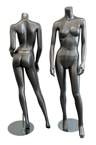 Mannequin on white with clipping path
