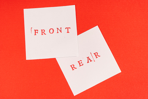 istock front and rear words printed on two sheets 1050665752