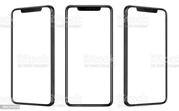 Front and side view of black smartphone with blank screen and modern picture id995294918?b=1&k=6&m=995294918&s=612x612&h=lhgbgvb1omh7jfnwvashje4nfqegco kkjo3bmfs1mc=