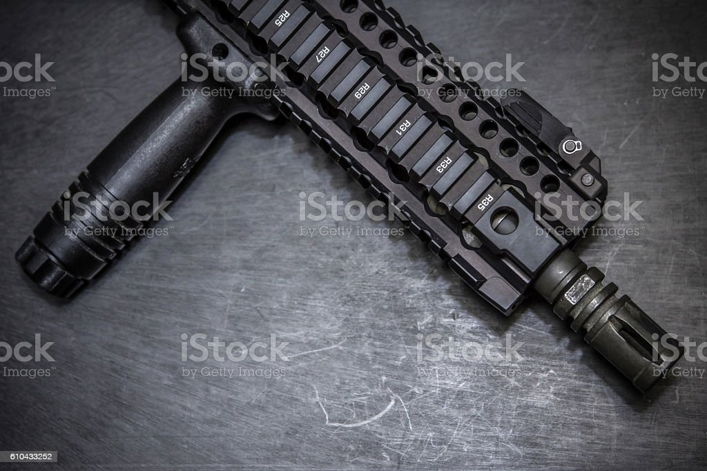front assault rifle stock photo
