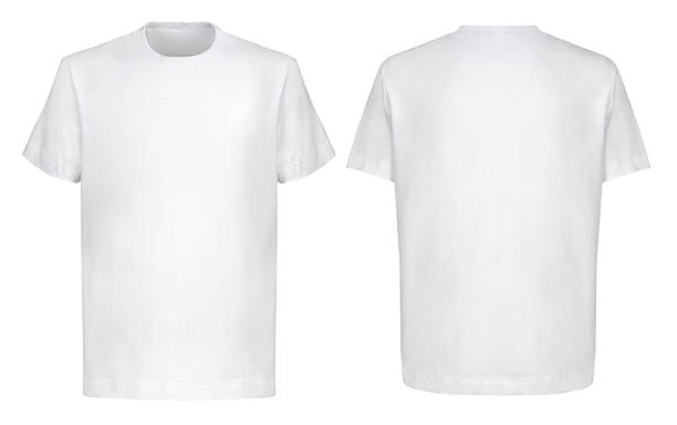 Front back and 3/4 views of white t-shirt on isolated on white background hip hop style Front back and 3/4 views of white t-shirt on isolated on white background hip hop style Shooted on a invisible mannequin white t shirt stock pictures, royalty-free photos & images