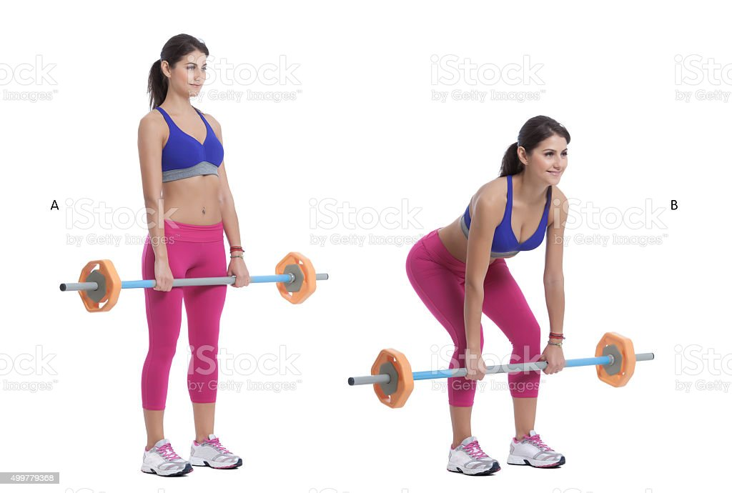 Front Barbell Squat stock photo
