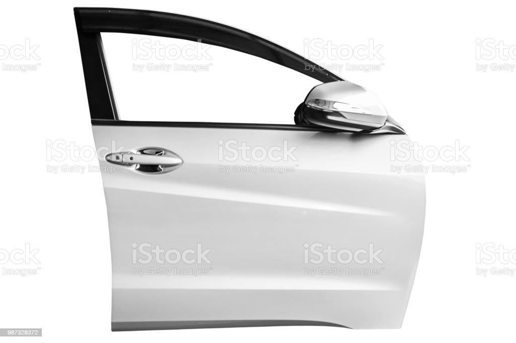 puerta frontal aislada sobre fondo blanco con trazado de clip - foto de stock