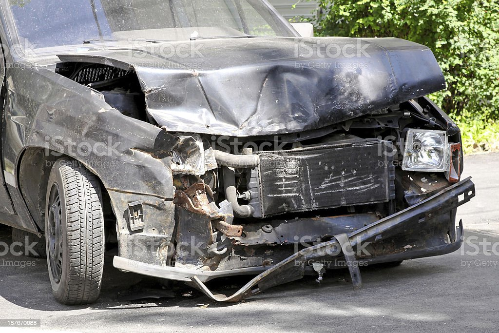 Front collision royalty-free stock photo