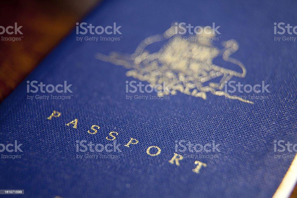 Front cover of an Australian passport. stock photo