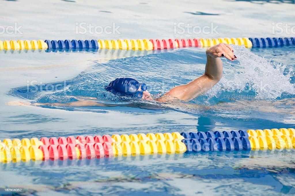 Front crawl swimming stock photo