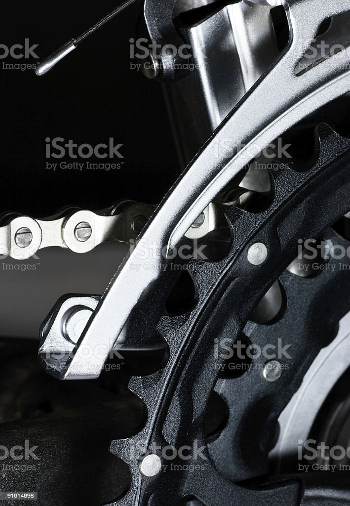 MTB front derailleur royalty-free stock photo