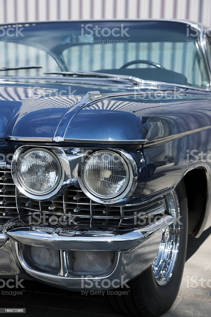 Front Detail of a Vintage Car, Cadillac Coupe De Ville royalty-free stock photo