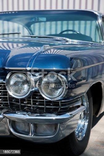 istock Front Detail of a Vintage Car, Cadillac Coupe De Ville 185072365