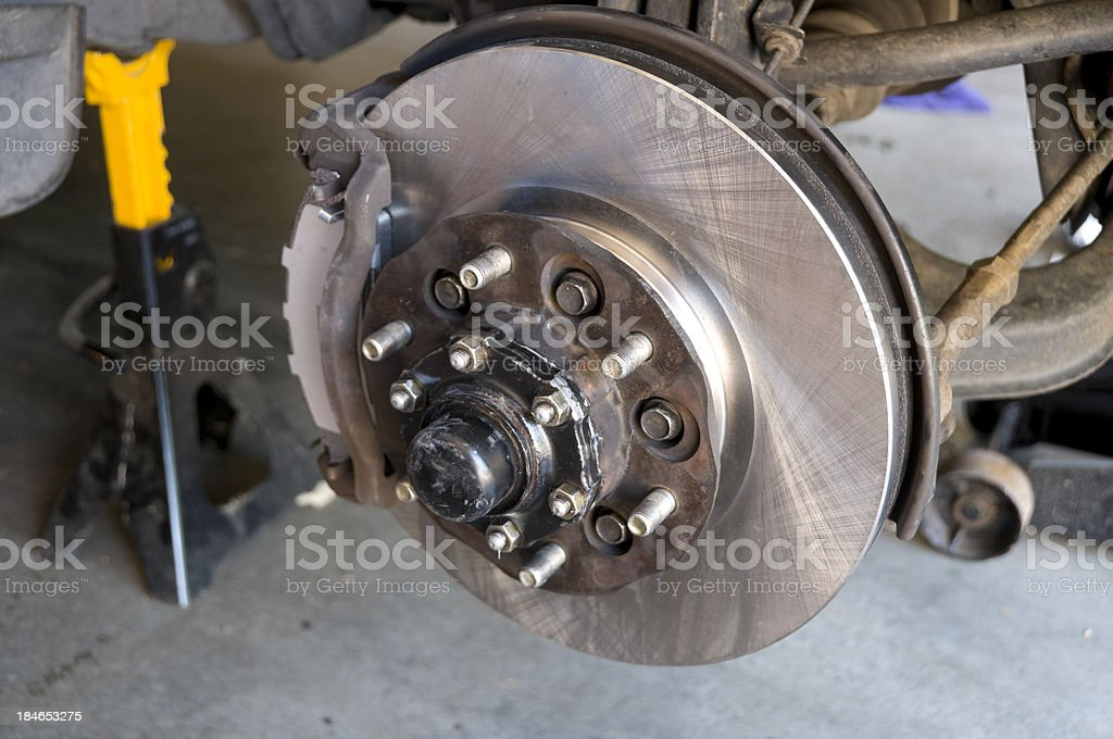 Front Disc Brake Repair stock photo