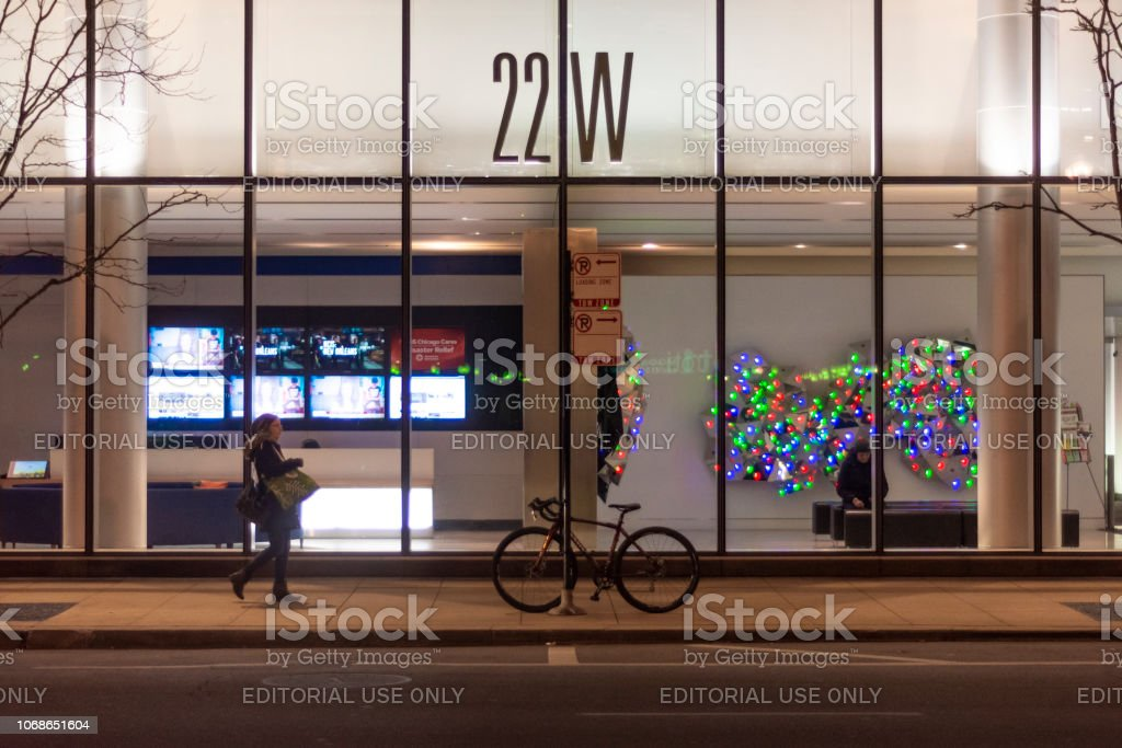 Front door and lobby stock photo