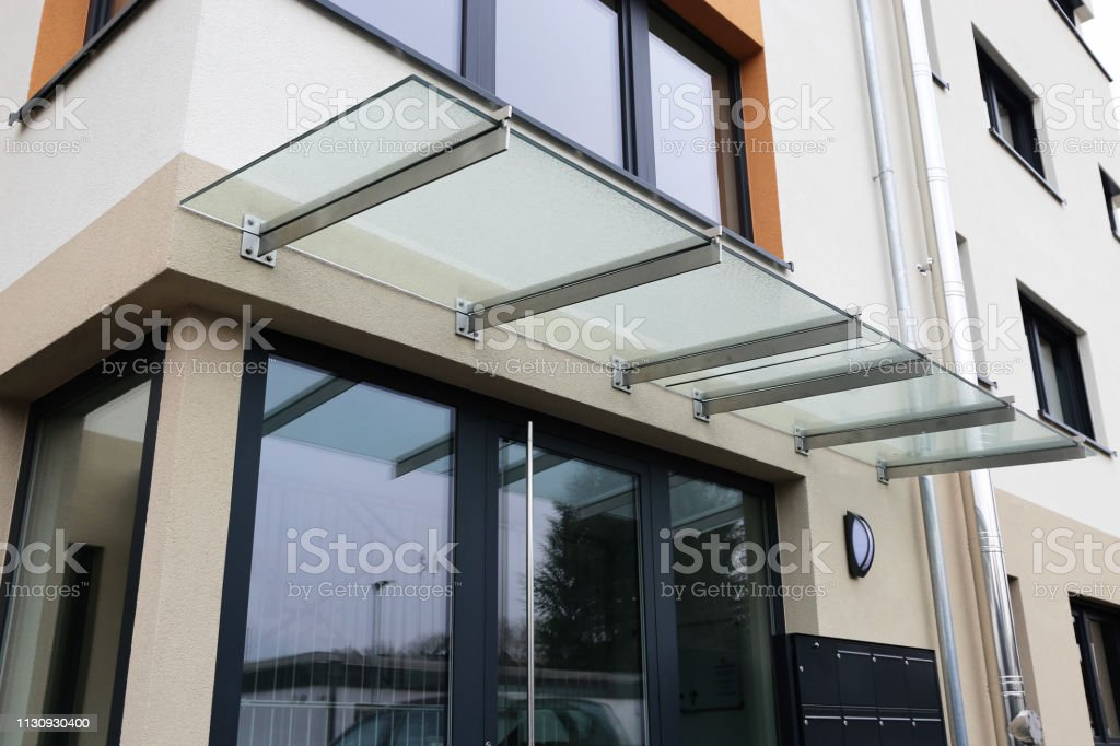 Front Door Canopy Made Of Glass Stock Photo Download Image Now Istock