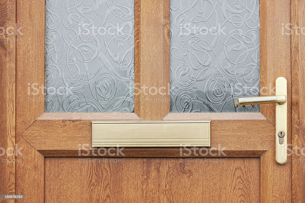 Front Door Close-Up stock photo