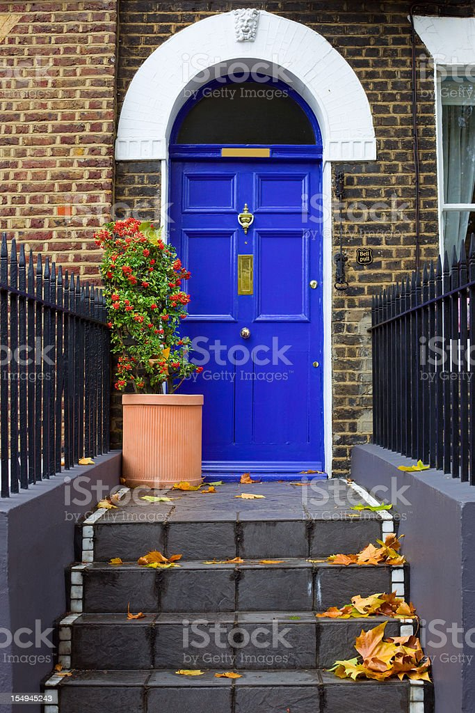 Front Door, Entrance, London, England stock photo