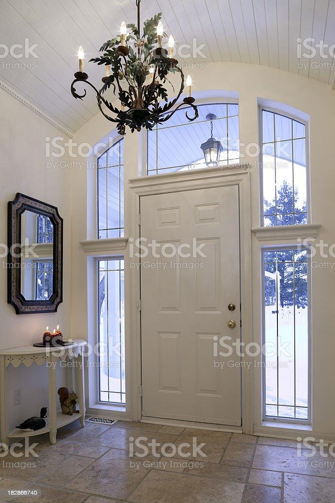 front door entrance stock photo