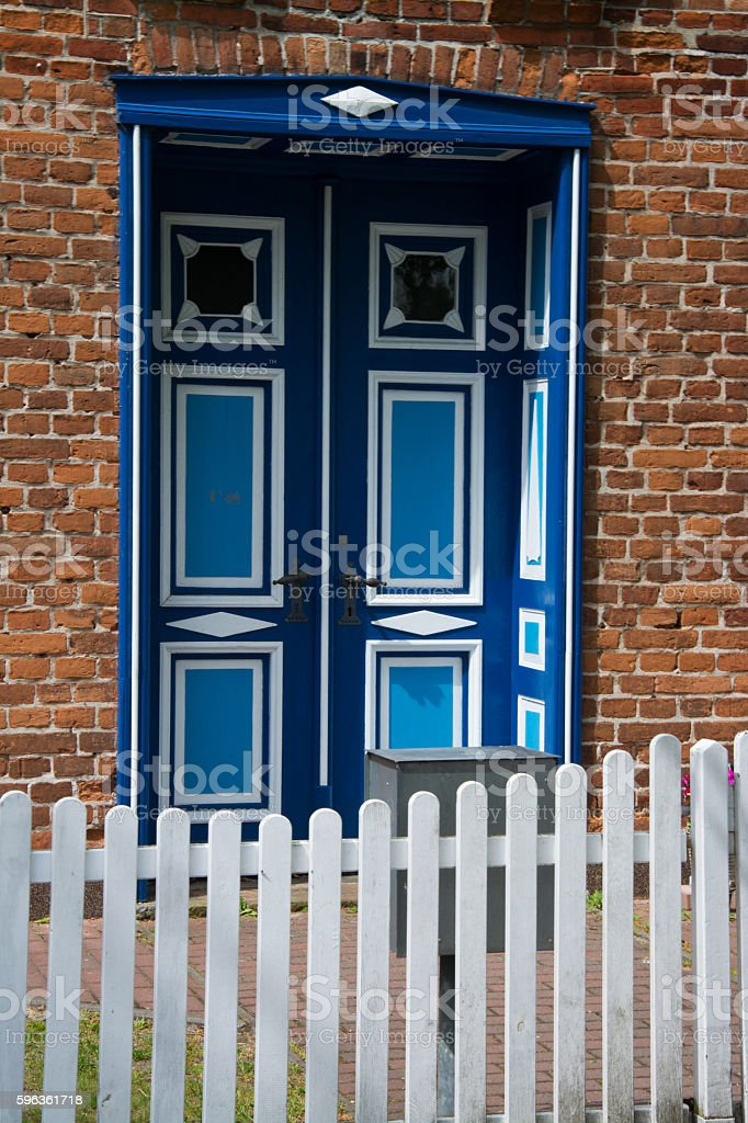 Front Door in Wustrow, Darss, Germany royalty-free stock photo