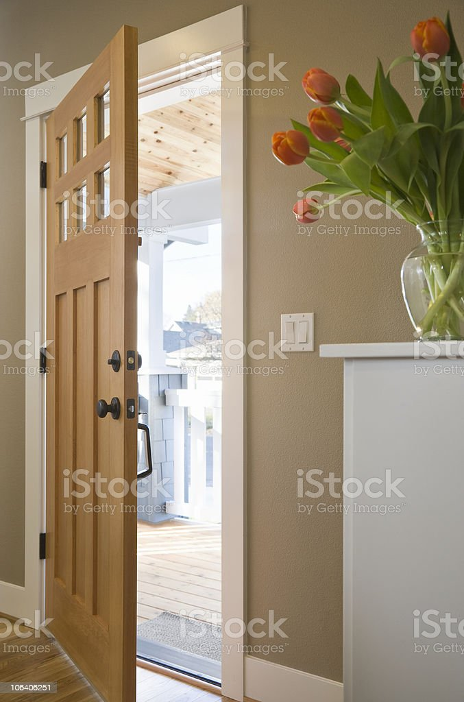Front Door of a Domestic Residence stock photo
