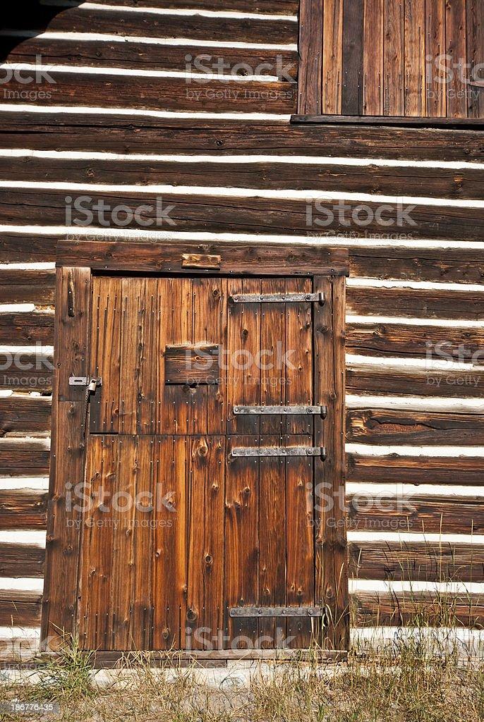 Front Door of Historic Lubec Barn (1926) royalty-free stock photo