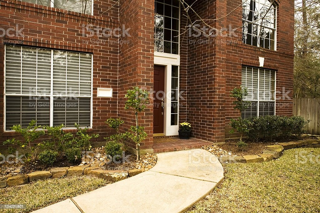 Front door of home royalty-free stock photo