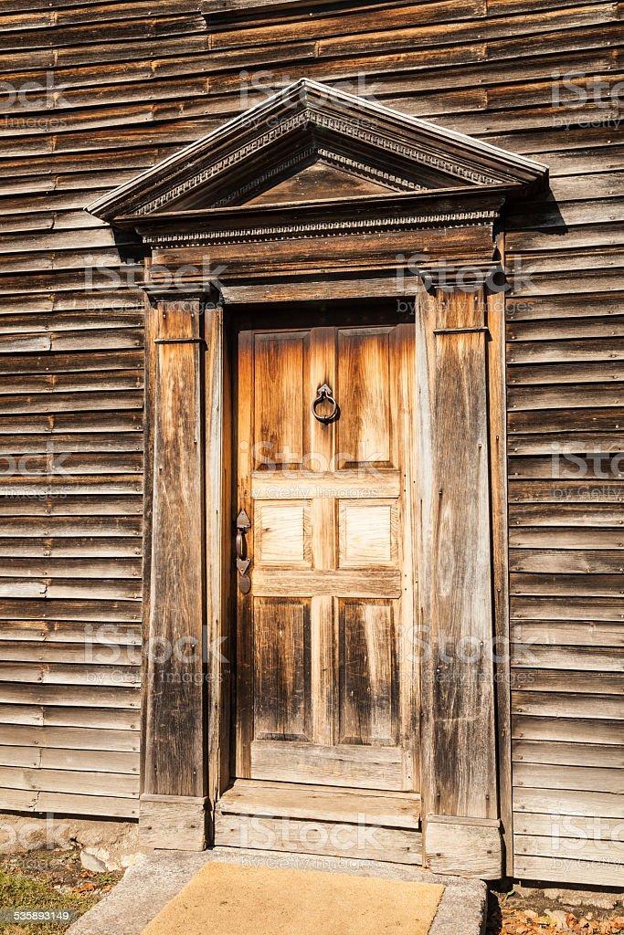 Front Door of the birthplace of John Adams stock photo
