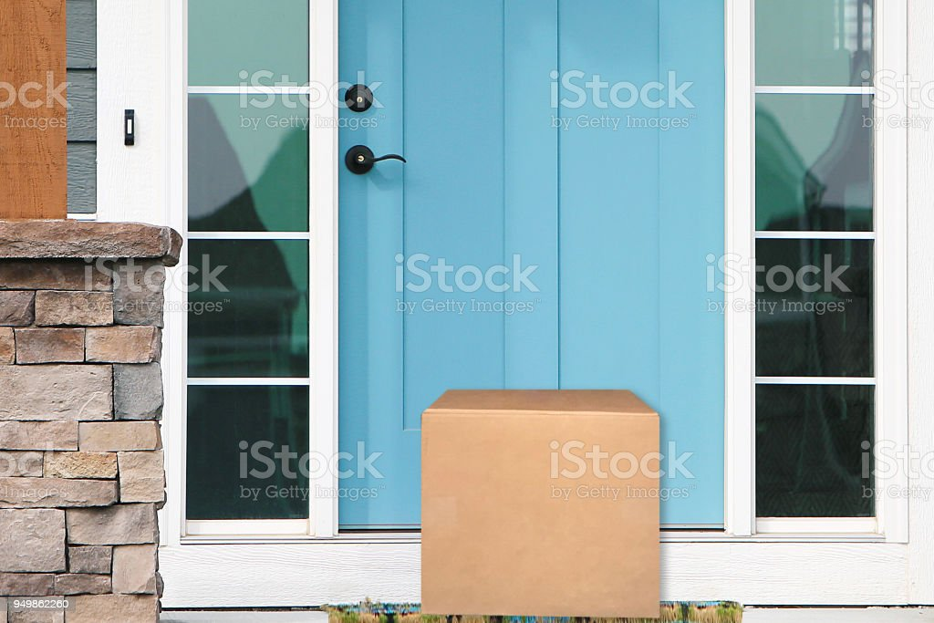 Front Door Package stock photo & Royalty Free Package At Door Pictures Images and Stock Photos - iStock