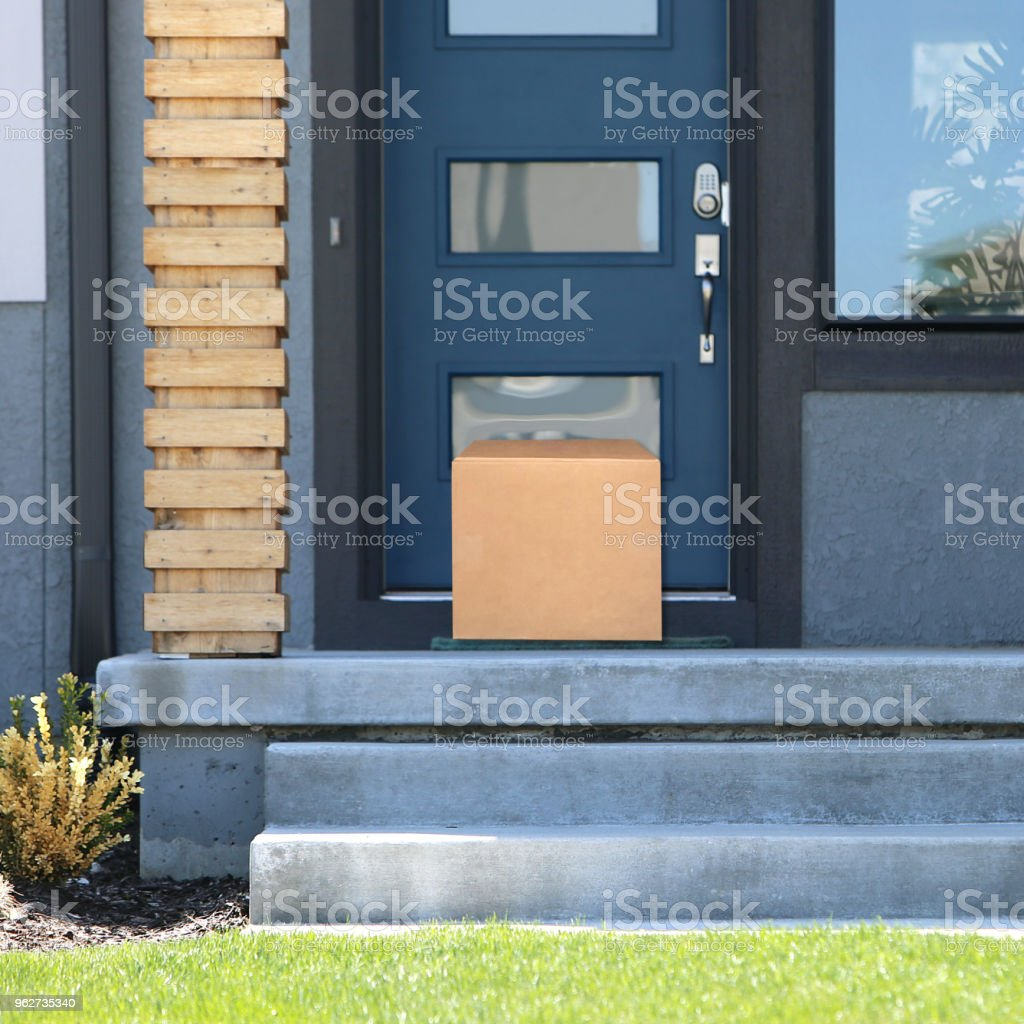 Front Door Package stock photo