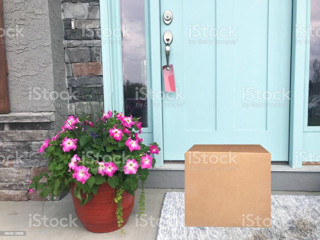 Front Door Package royalty-free stock photo