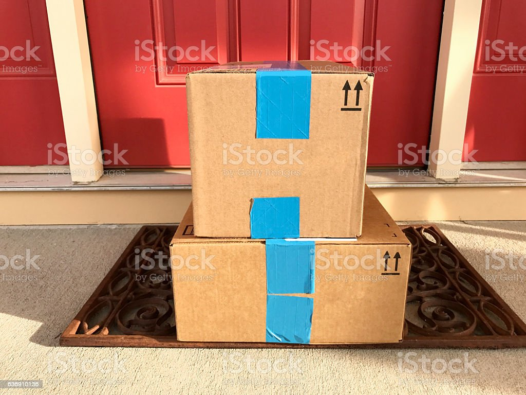 Front Door Packages stock photo & Royalty Free Delivery At Door Pictures Images and Stock Photos - iStock